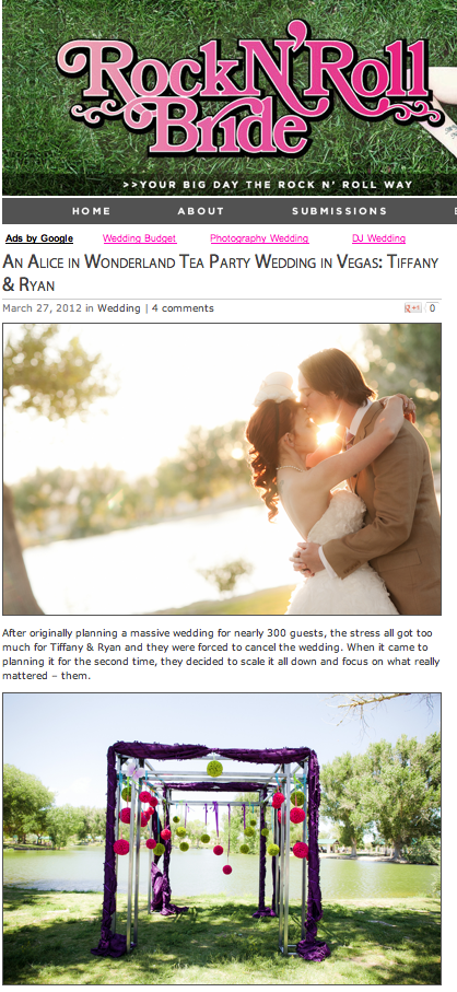 Screen shot 2012 03 27 at 8.17.46 AM Tiffany and Ryan Wedding is Featured on Rock N Roll Bride!
