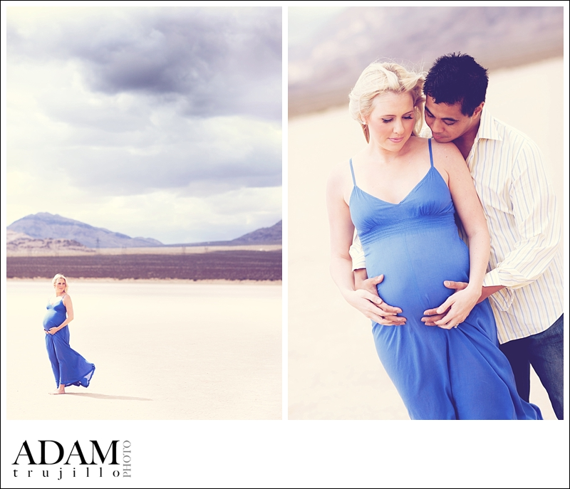 Maternity Photographer Las Vegas 001 Pring Maternity Portraits at the Dry Lake Bed | Las Vegas, NV