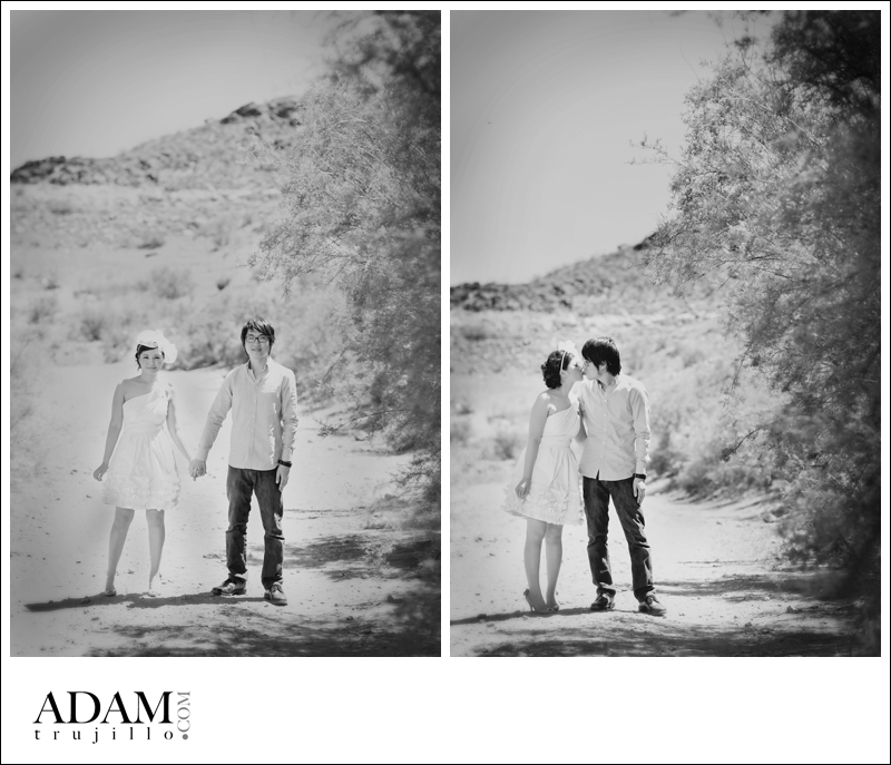 Las Vegas Engagement Photographer 001 David and Pauline Engagement Session Las Vegas at the Lake and City Center