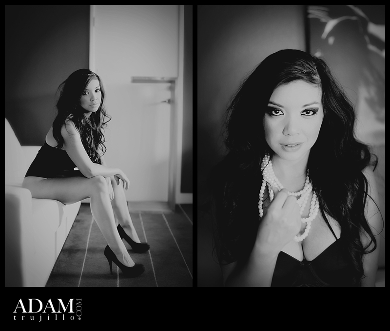 Las Vegas boudoir photographer AC 001 AC Steaming up her Boudoir photography set.