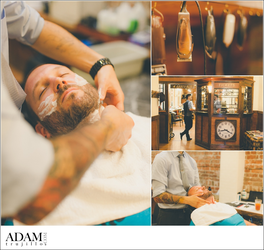 Modern Man Salon, Portland Wedding Photographer Pictures.