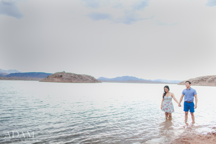 Lake Mead Engagement Photography Session Las Vegas NV.
