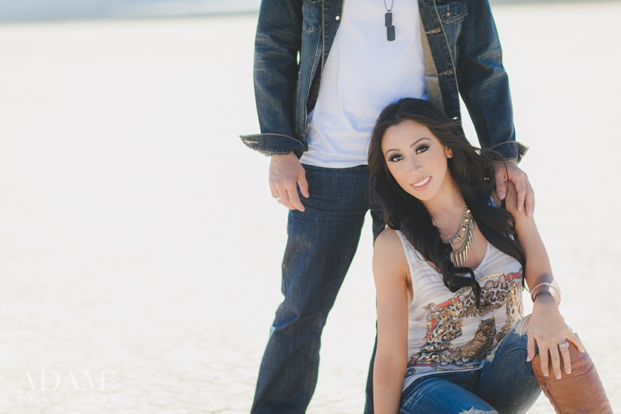 Las Vegas Dry Lake Bed Engagement Pictures