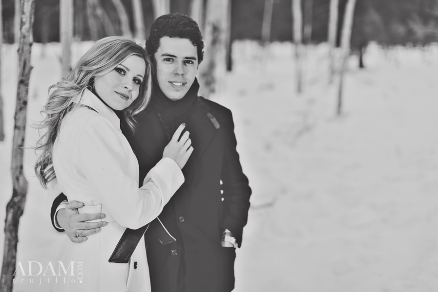 Mount Charleston Engagement Pictures 0001 Mount Charleston Snowy Engagement Session.
