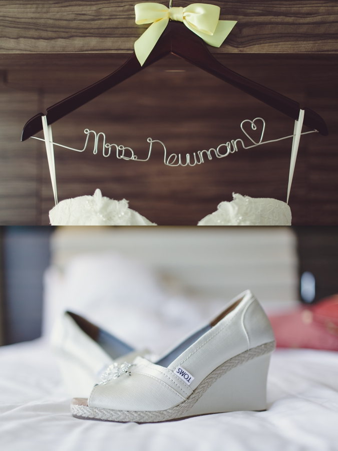 M Resort Las Vegas Wedding Photography Pictures, Las Vegas Wedding Shoes Toms and Etsy Bride Last Name Hanger.