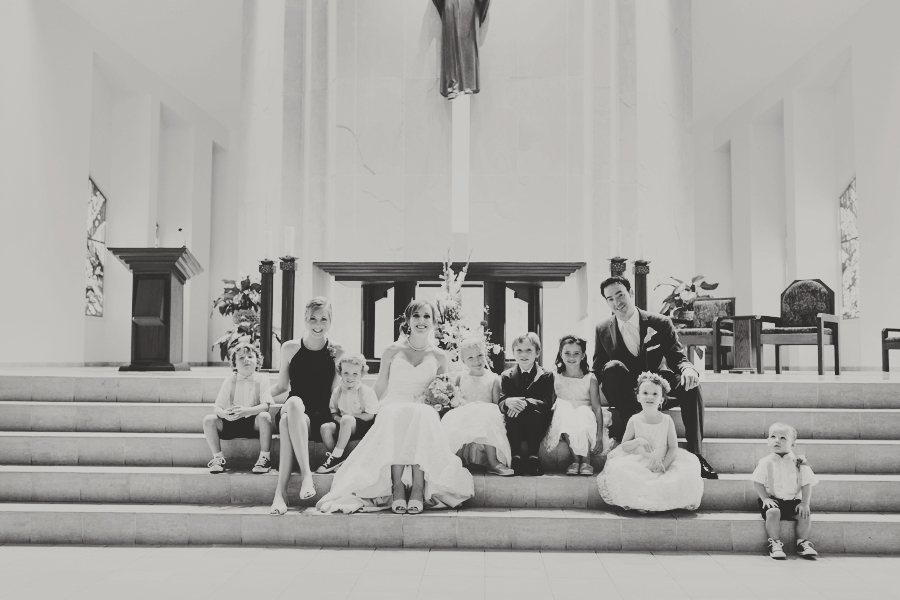 Las Vegas Catholic Church Wedding Photographer, Family Pictures Wedding Formals.