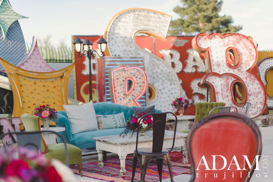 Las Vegas Neon Boneyard Wedding Photographer Green Day 0003 Adrienne + Billie Joe Armstrong | Neon Museum Wedding, Las Vegas